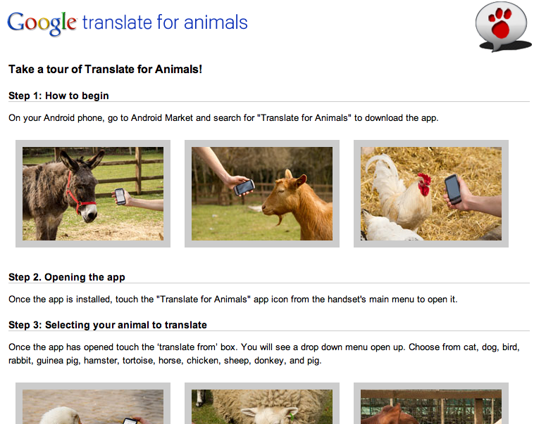 google translate for animals. Animal Translate - Google